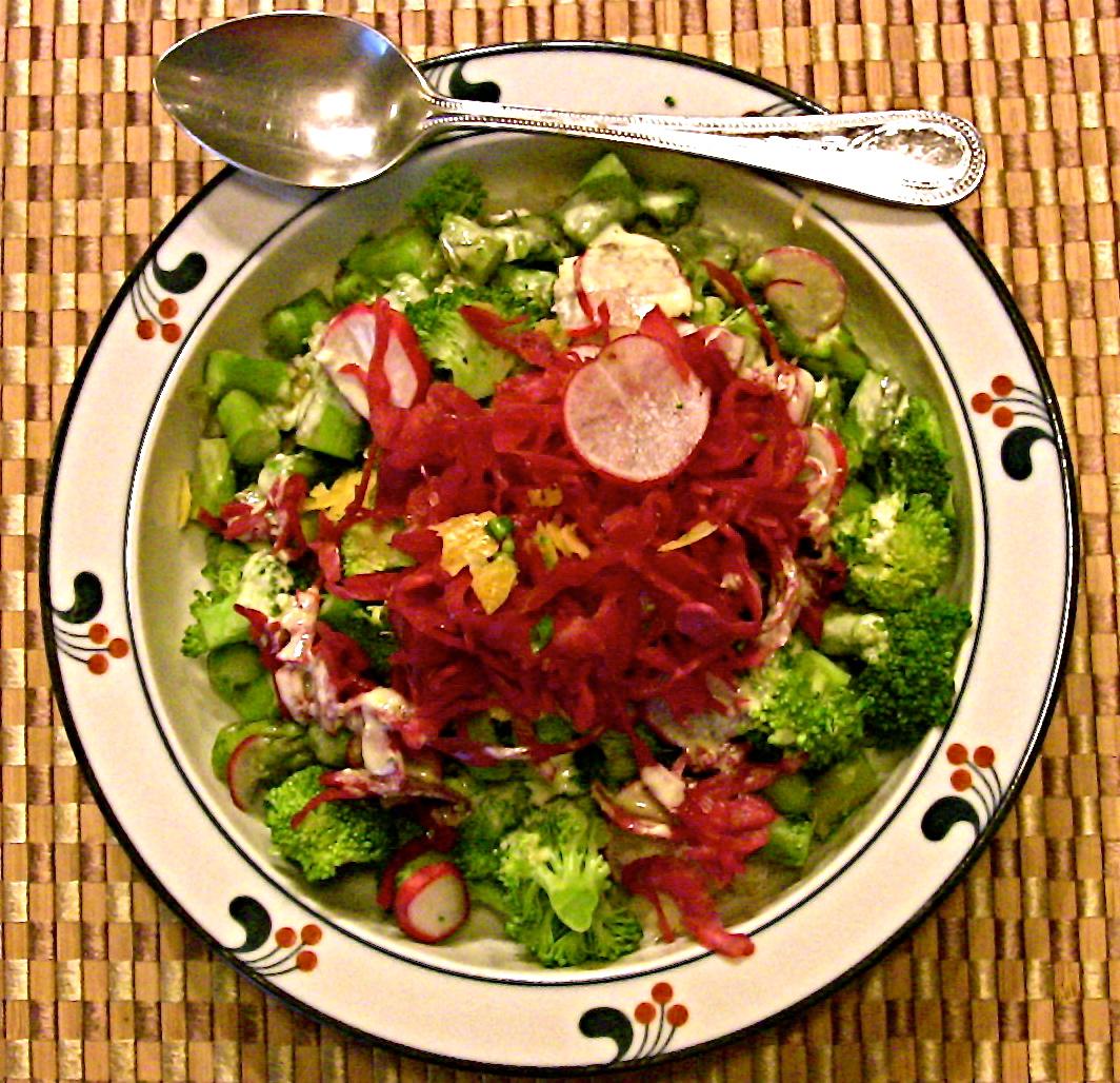 sweet n tangy asparagus salad