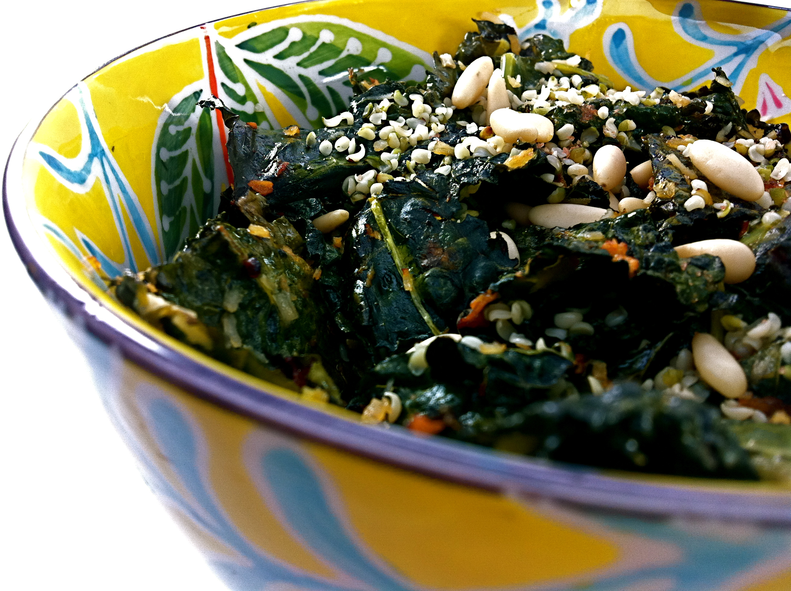 Coconut Curly Crispy Kale