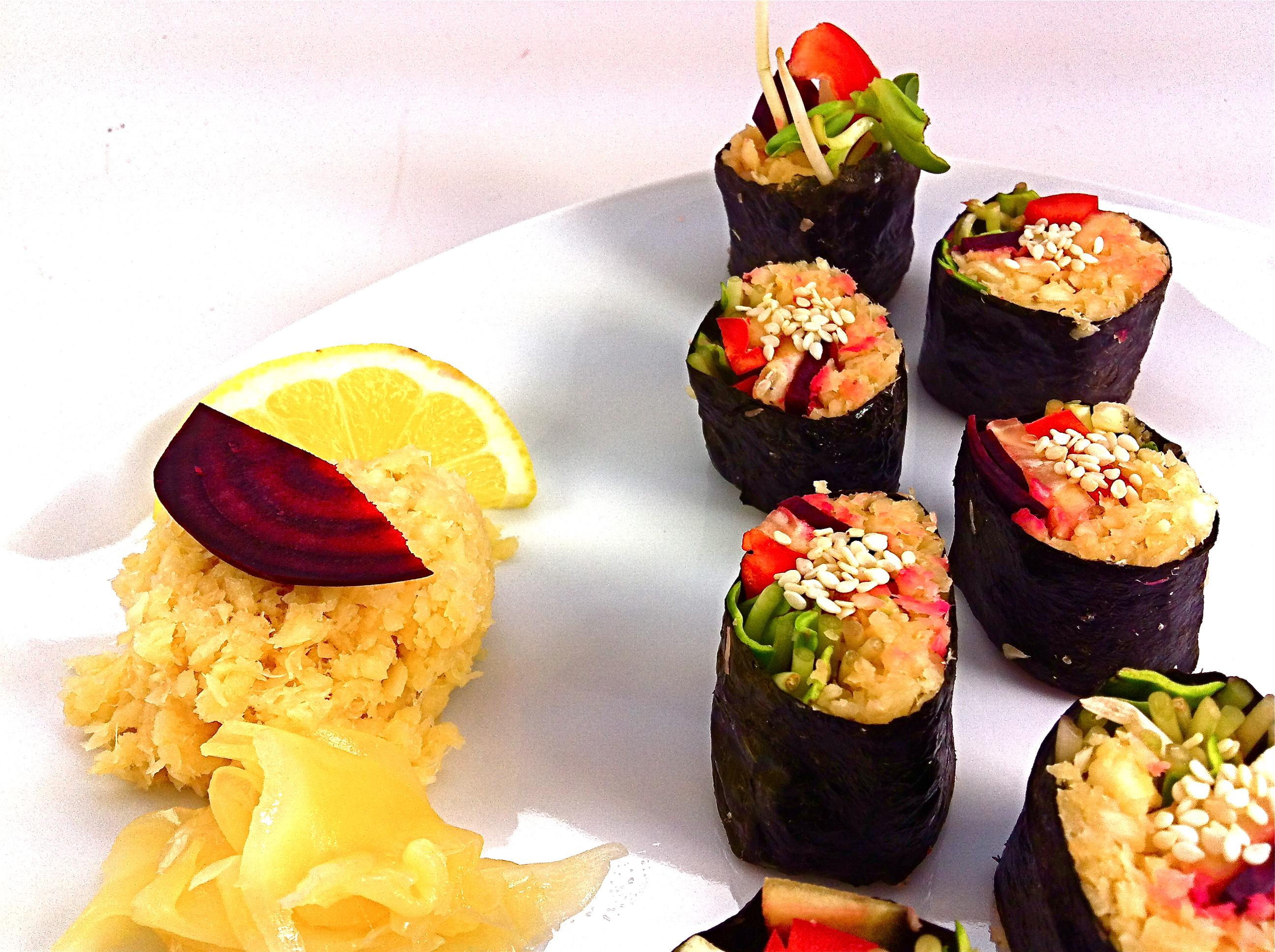 Raw Parsnip Sushi