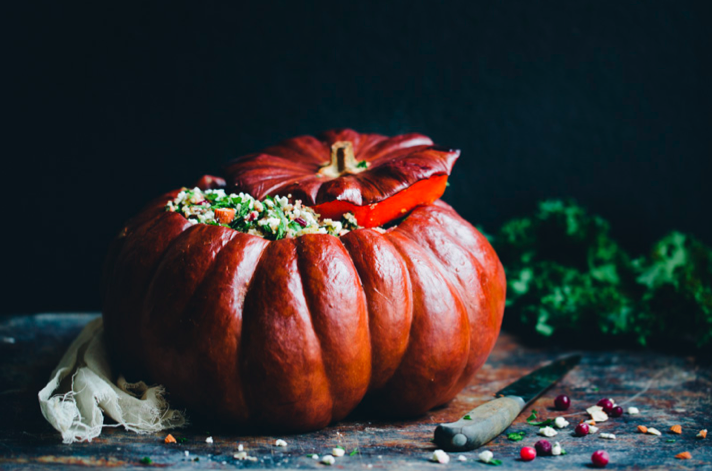 Holiday Stuffed Pumpkin by Green Kitchen Stories