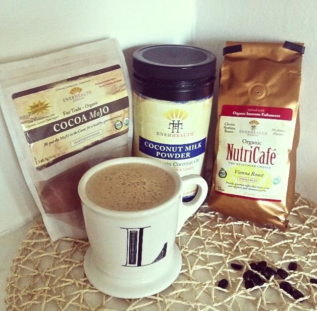 Enerfood Mushroom Coffee and Coconut Milk Powder