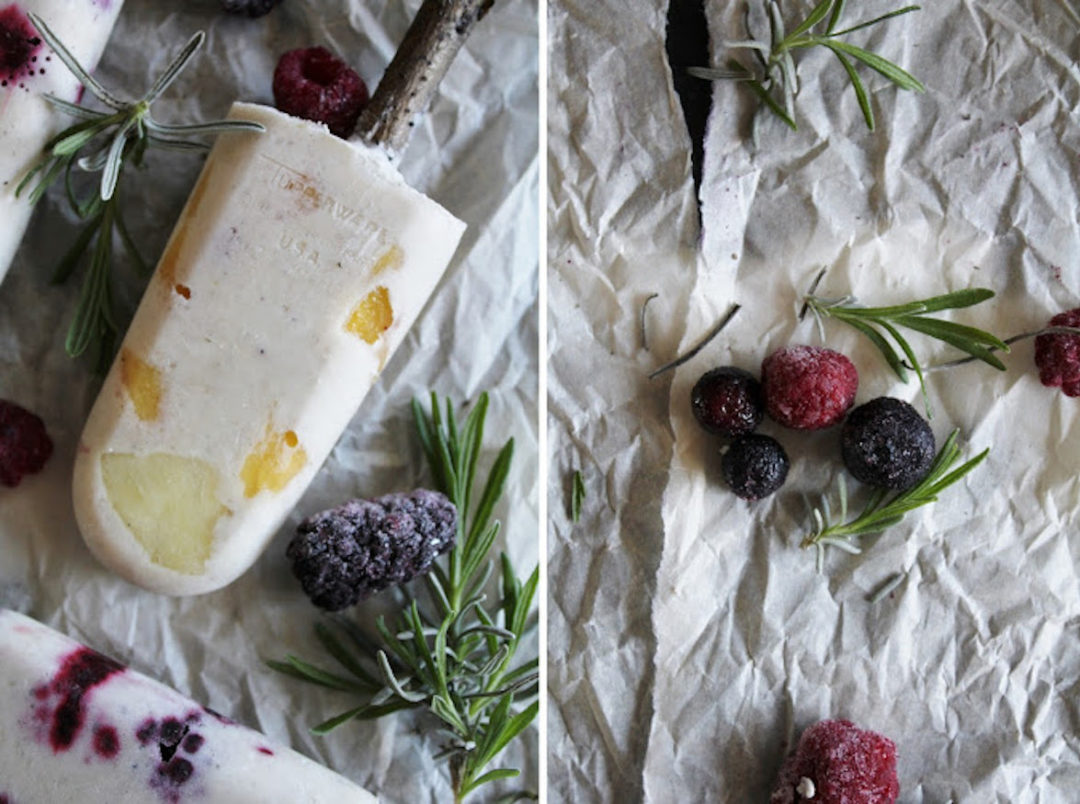 healthy coconut popsicles