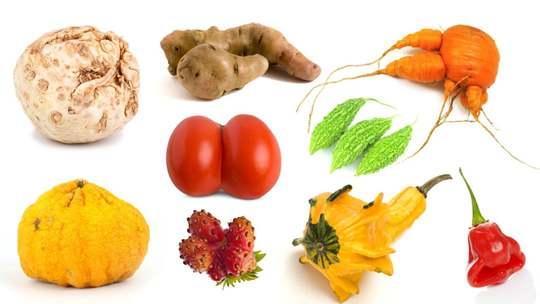 ugly fruit and vegetables