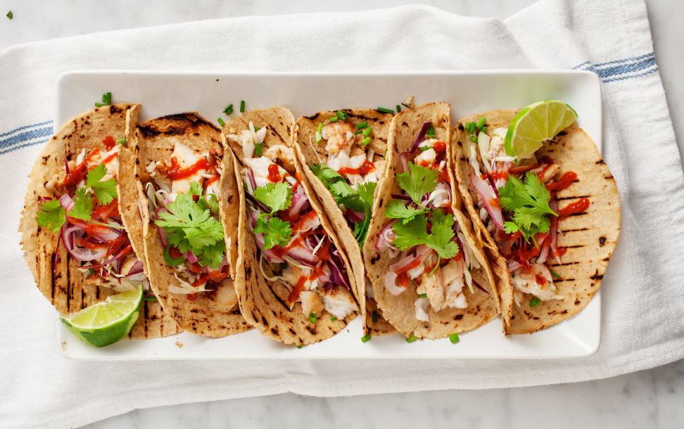 Tequila lime gluten free fish taco