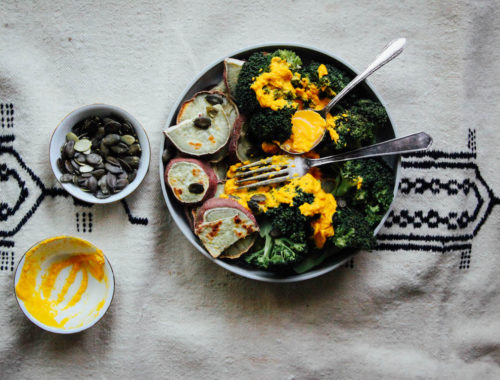 Sweet potato broccoli and carrot sauce