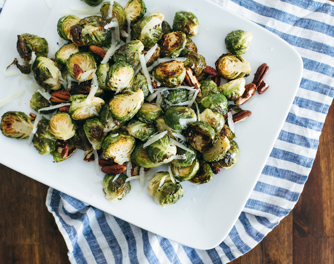 roasted-brussels-sprouts-healthy-vegetarian-thanksgiving