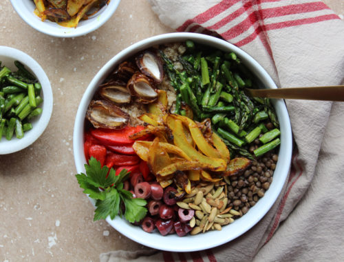 healing-veggie-bowl-for-low-iron-levels