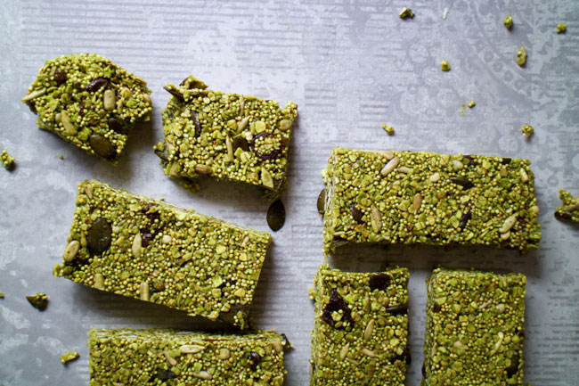 matcha-granola-bars best snack post pregnancy