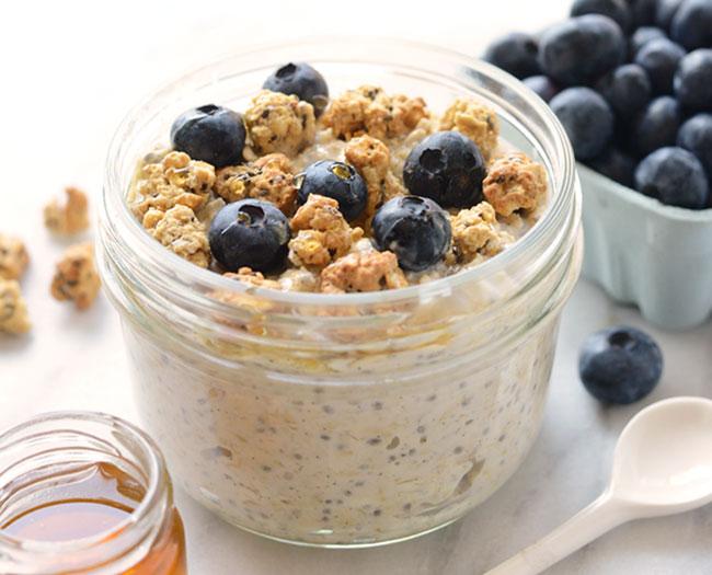 best snacks post pregnancy overnight oats