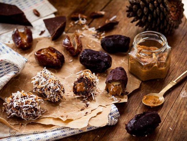 best snacks post pregnancy stuffed-dates